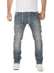 WOTEGA - Noah Sweatpants in Jeans-Look - turbulence grey (3R4215)