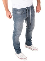 Yazubi - Erik Sweatpants in Jeans-Look - turbulence grey (194215)