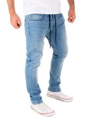 Yazubi - Erik Sweatpants in Jeans-Look - blue shadow (174020)