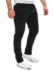 Yazubi Herren Cargohose Jayden in schwarz (Black 4008)