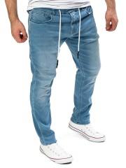 Yazubi - Erik Sweatpants in Jeans-Look - estate blue (194027)