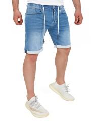 Yazubi - Henry Sweat Jeans Shorts - blue horizon (183929)